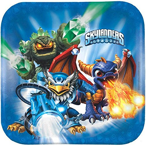 "Skylanders Square Plates, 9"", Party Favor"
