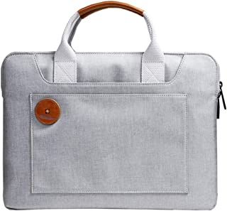 "Mens Bag (2 Sizes) Men's Twill Waterproof Nylon Retro Work Bag 14"" Laptop Waterproof Bag High capacity"