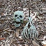 Halloween Deko Skelett Schädel Realistisch Grausigkeit Begraben Lebend Skelett Schädel Garten Hof Rasen Dekos für Halloween Garten Hof Rasen Dekoration - 3