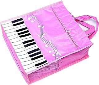Piano Keys Handbag Reusable Grocery Bag Shoulder Shopping Bag Tote Bag for Music Teacher Girls Gift Bag