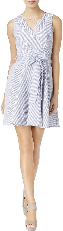 Maison Jules Fit Flare Wrap Dress