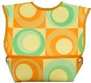 Dex Baby Dura Bib Crum Catcher - Geo Bib, Green & Orange