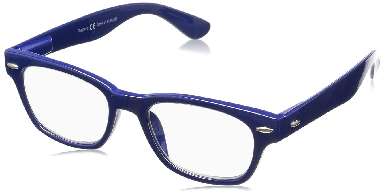 Peepers Women's Clark Focus - Blue 2486300 Wayfarer Reading Glasses, Blue, 3