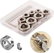CESFONJER 8 Piezas Topes de Profundidad Brocas, Topes para Taladro Anillo Posicionador con la Llave Hexagonal, 3–10 mm