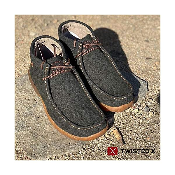 Twisted X Men's Casual Leather Handcrafted Chukka Driving Mocs, Rubberized Brown, 7.5 W
