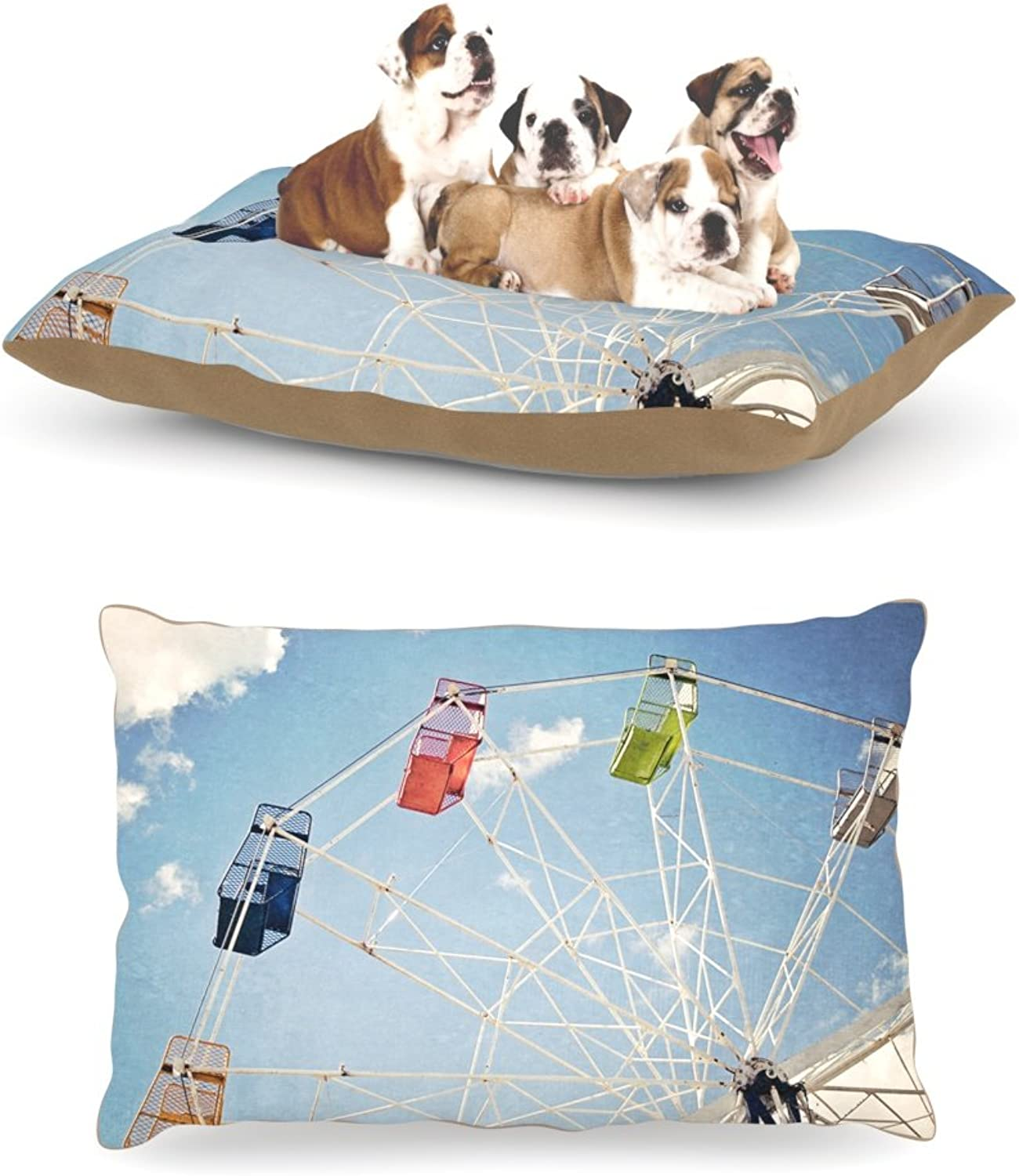 Kess InHouse Susannah Tucker The Show Came to Town Carnival Dog Bed