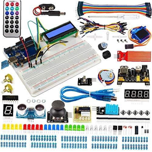 nJiaMe Projekte Starter Kit elektronische Element Kit Super Zündschaltung BreadBorad Kit Kompatibel mit Arduino