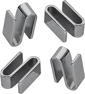 Akro-Mils AWSHOOK8PK Connecting S Hook for Chrome Wire Shelf System, 8-Pack