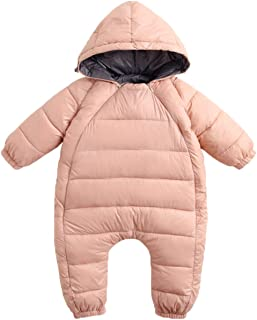 f5b4de598 REWANGOING Baby Infant Toddler Girls Boys One Piece Winter Zipper Puffer  Down Pram Suit Jumpsuit Snowsuit