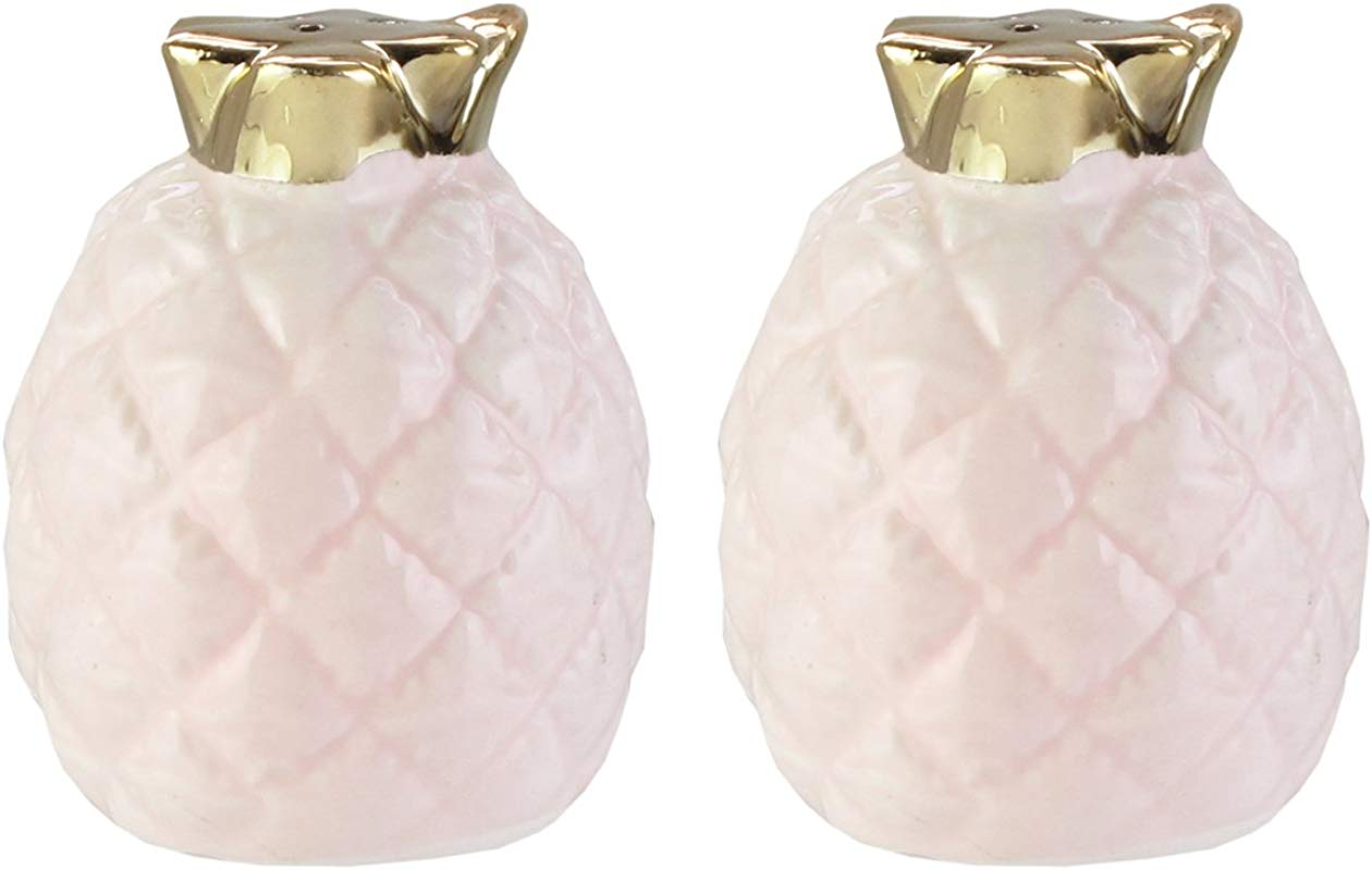 American Atelier 6888 SP A Pineapple Salt Pepper Shakers 2 X 2 75 Pink