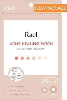 Rael Acne Pimple Healing Patch - Absorbing Cover, Invisible, Blemish Spot, Hydrocolloid, Skin Treatment, Facial Stickers, Two Sizes, Blends in with skin (24 Patches, 1Pack)