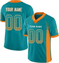 Custom Football Jerseys Mesh Style Design Personalized Team Name and Your Number for Men/Women/Youth