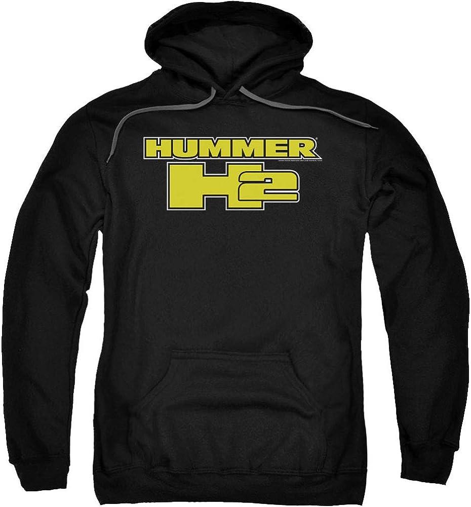 Hummer Men's H2 Block Logo Hooded Sweatshirt Large Black