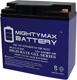 Mighty Max Battery 12V 22AH Gel Battery Replacement for TaoTao ATE-501 Brand Product