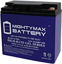 Mighty Max Battery 12V 22AH Gel Battery for Schumacher DSR ProSeries PSJ-2212 Booster Brand Product