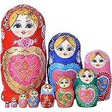 YAKELUS 10pcs Russian Nesting Dolls Matryoshka handmade1051