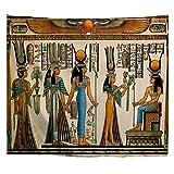 A.Monamour Tapices Decoración Egipcia Papiro Egipcio Que Muestra A La Reina Nefertari Haciendo Una Ofrenda A ISIS Imagen Tela Hippie Mandala Tapiz Arte De La Pared Tapices De Pared Mantel 180x230cm