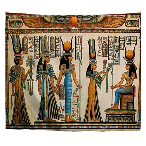 A.Monamour Tapices Decoración Egipcia Papiro Egipcio Que Muestra A La Reina Nefertari Haciendo Una Ofrenda A ISIS Imagen Tela Hippie Mandala Tapiz Arte De La Pared Tapices De Pared Mantel 102x153cm