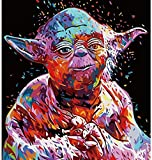 DIY Paint by Number Kit On Canvas for Adults,EVERMARKET Star Wars Acrylic Painting by Numbers Canvas Painting by Numbers Arts Craft Home Wall Decor 16x20Inch(G)