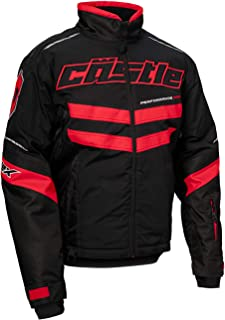 Castle X Strike G2 Men's Snowmobile Jacket - Black/Red (3XL)