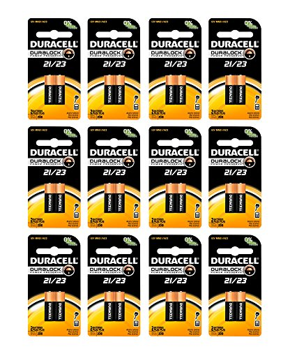 24x Duracell A23 Batteries 12V Alkaline 21 23A A23BP GP23 Carded (2pk x 12)