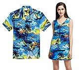 Pares Que Combinan la Camisa Hawaiana de Aloha del Vestido de túnica Sobre el Vestido en...