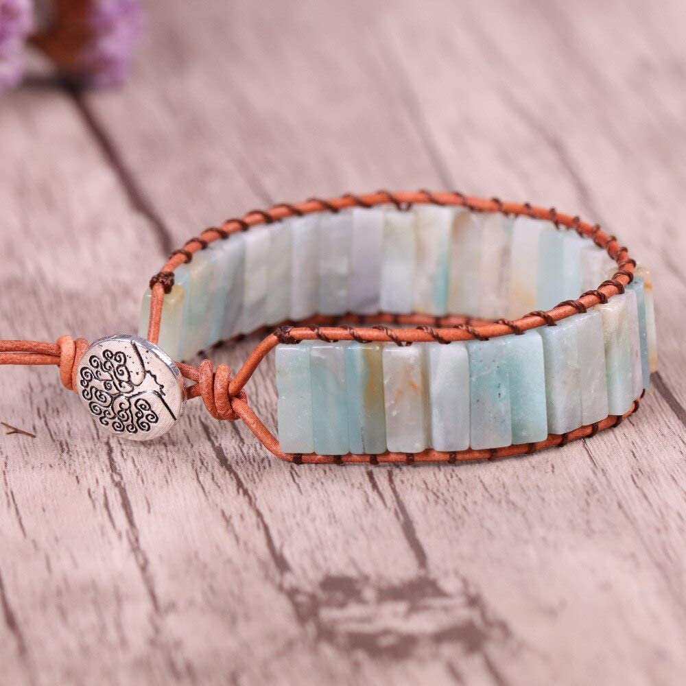 Vesna Max 88% OFF Colorful Free shipping on posting reviews Boho Handmade Bracelet Stone Chakra Natural Wrap