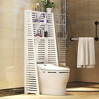 Salle de bains étagère de rangement Au cours des toilettes Support de rangement utilitaire délicat creux 3 étagères de bai...