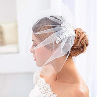 Zoestar Wedding Lace Birdcage with Comb Bridal Hair Accessories for Women