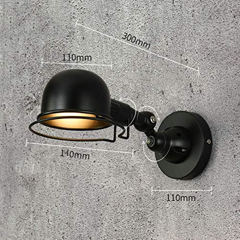 E14 Verstellbarer arm 100% metal Wandbeleuchtung, Nordische Stecken sie Wandlampe Wandhalterung Wandleuchte Für Bar Kaffee Schlafzimmer-schwarz