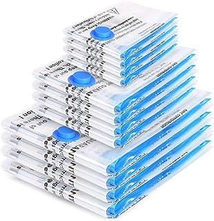 Boxlegend Sacs de Rangement Sous Vide Lot de 12 Type épais 4*100x80 +4*80x60 + 4*60x40cm Housses de Rangement Sous Vide Vo...