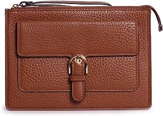 f01d6e7af3c182 MICHAEL Michael Kors Womens Cooper Leather Pebbled Wristlet Handbag Brown  Medium