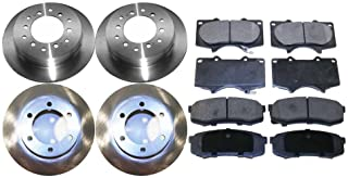 Prime Choice Auto Parts SRBRPKG00020 Front Performance Silver Rotors Calipers and Metallic pads Set