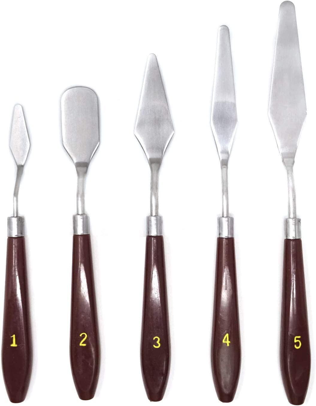 Ranking TOP19 Honbay 5-Piece Set Oil Painting Steel Stainelss Palette Scraper Easy-to-use