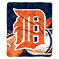 Officially Licensed MLB Detroit Tigers Big Stick Sherpa Throw Blanket,