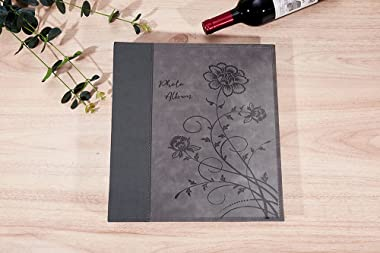 Artmag Photo Album 4x6 1000 Photos, Large Capacity Wedding Family Leather Cover Picture Albums Holds Horizontal and Vertical