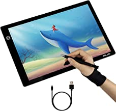 Sketching Architecture Gift for Kids Animation TKLake A4 Super Thin Lightbox Brightness Adjustable Light Pad LED Copy Board Drawing Pad Tracing Tablet with USB Cable for Artists Tattoo Designing
