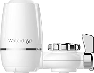 Waterdrop 320-Gallon Long-Lasting Water Faucet Filtration System, Faucet Water Filter, Removes 93% Chlorine, Removes Harmful Contaminants Metals & Sediments - Fits Standard Faucets (1 Filter Included)