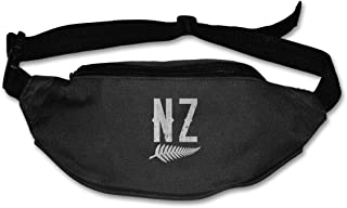 NINGFEI Retro NZ Graphic New Zealand Rugby Sport Waist Packs Bag Hiking for Men's and Women's