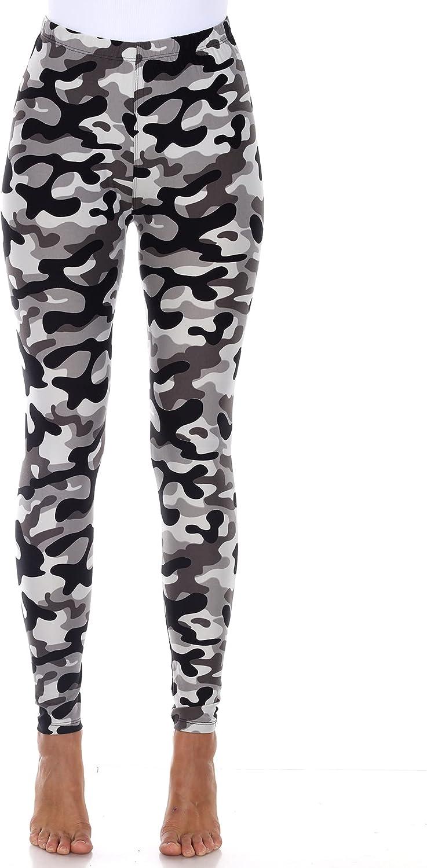 white mark Women's Soft Stretch High-Rise Camouflage Print Leggings