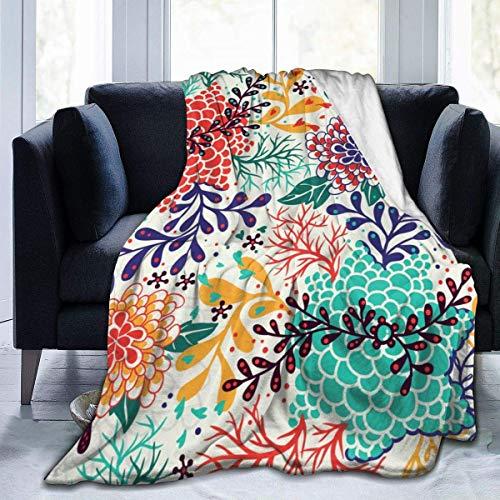 Wobuzhidaoshamingzi decoratieve deken voor banken met veren, gestructureerd, motief: chrysant