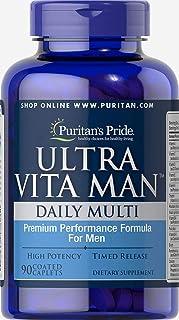 Puritan's Pride High Potency Ultra Vita Man Time Release 90 Caplets