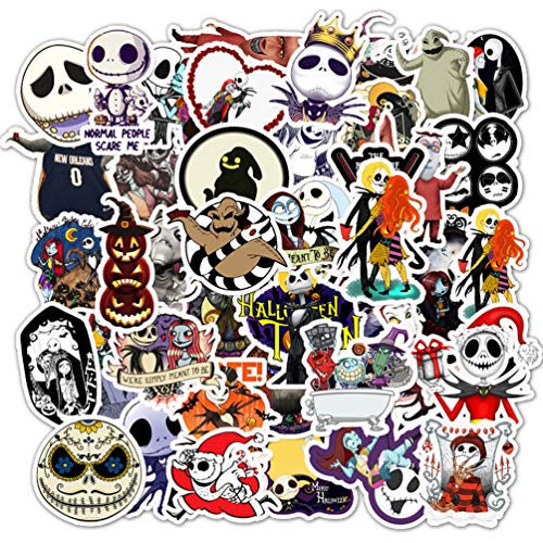 Tim Burton's The Nightmare Before Christmas Halloween Movie Stickers for Water Bottles Scrapbook Laptop Computer Luggage Motorcycle 50pcs