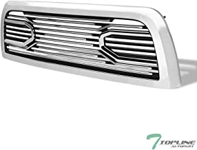 Topline Autopart Chrome Big Horn Style Front Hood Bumper Grill Grille ABS with Shell For 10-18 Dodge Ram 2500/3500 / 4500/5500