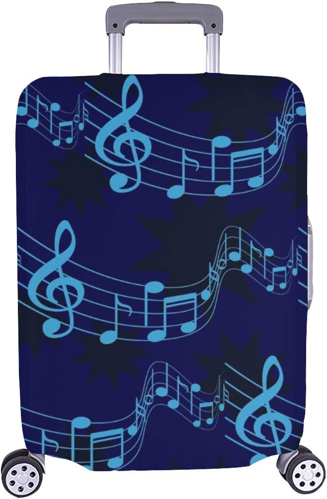 Notes Music Spandex Trust Trolley Case Suitca New product type Travel Luggage Protector