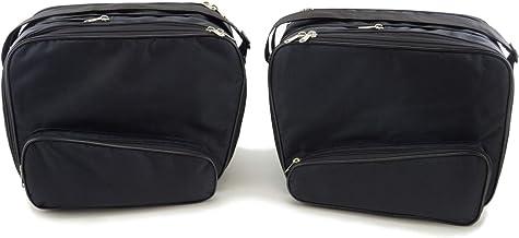 SET de 3 bolsas 21+22 King Tour Pak de Harley Davidson bolsillos interiores adecuados para 2 maletas laterales moto y 1 maleta moto Top Case Touring No