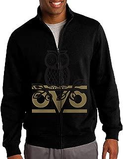 Men's Owl OVO Full Zip Hoodies Jackets Black