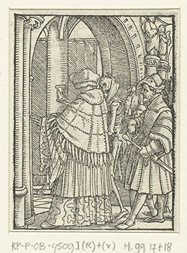 Das Museum Outlet–Decke und Tod. 1524–1538, gespannte Leinwand Galerie verpackt. 50,8x 71,1cm