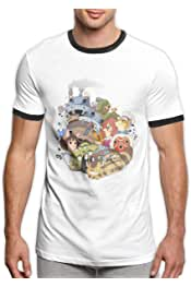 RongHao Ghibi Anime Tee Comfortable Baby T Shirts Black