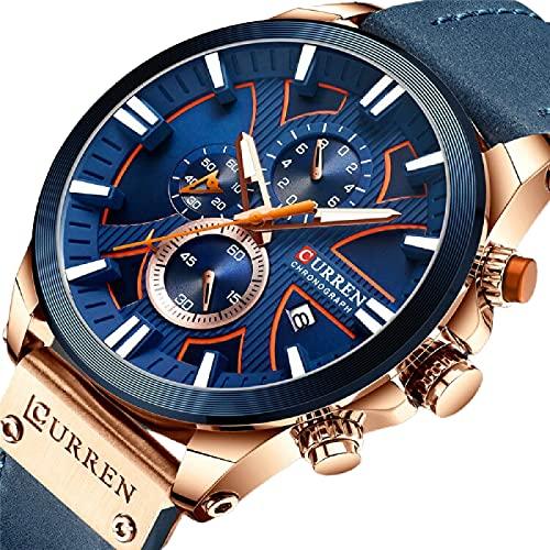 Legxaomi Reloj de hombre, reloj de cuarzo de moda para hombre, militar, impermeable, deportivo, reloj de fecha, Relogio Masculino, el mejor regalo para hombres rosa azul